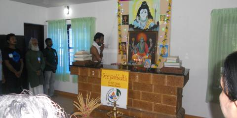 Dhanwantari pooja during Ayurveda day
